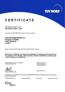 TUW OHSAS Certifikat
